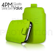LEATHER PULL TAB SKIN CASE COVER POUCH FOR VARIOUS BLACKBERRY MOBILES
