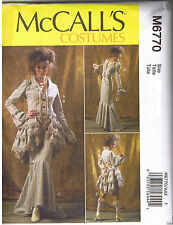 Victorian Steampunk Jacket Bustle Capelet Skirt Pant Sewing Pattern Sz 4 6 8 10