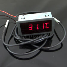 "0.56""  F/C 12V DC Red LED Digital Car Meter Thermometer -55-125°C DS18B20 Sensor"