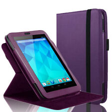 "360 Rotating PU Leather Case Smart Cover Stand For Google Nexus 7"" Tablet Purple"