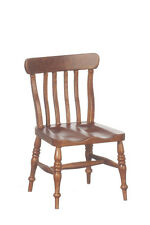 DOLLHOUSE MINIATURE Wooden Victorian Country Style Kitchen Chair -  Walnut