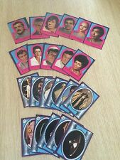 STAR TREK Paramount Pictures 1979 TRADING CARD STICKERS LOT of 22