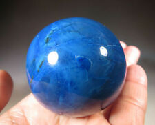 49MM Natural BLUE AGATE QUARTZ Gemstone Sphere Crystal Ball from BRAZIL