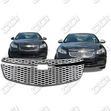 Chrome Grille Overlay for 2011 2012 2013 2014 Chevy Cruze LS / LT / LTZ (2 PCS)