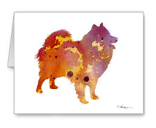AMERICAN ESKIMO note cards by watercolor artist DJ Rogers