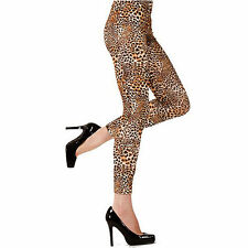 TOM CAT LEOPARD PRINT LEGGINGS BY SILKY, SIZE: S