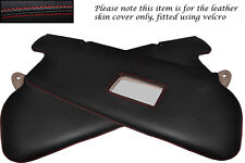 RED STITCH FITS TOYOTA LANDCRUISER VX 80 2X SUN VISORS LEATHER COVERS ONLY