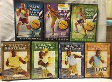 7 Billy's Bootcamp Tae Bo workout exercise fitness DVD lot, Elite Basic blanks