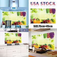 Fruit Printing Kitchen Oilproof Removable Wall Stickers Art Decor Home Decal USA
