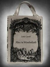 Restyle Alice In Wonderland Grey Novel Book Shoulder Hand Bag