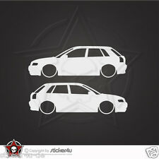 (1355) 2x Low and Slow Audi A3 8L Sticker Aufkleber DUB VAG  Turbo quattro S3