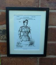 USA Patent vintage ladies bedroom GARMENT FITTING DEVICE MOUNTED PRINT gift 1885