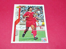 M. CHAOUCH MOROCCO MAROC FIFA WC FOOTBALL CARD UPPER USA 94 PANINI 1994 WM94