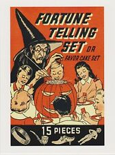 "*Postcard-Halloween-AD-""Fortune Telling Set""/Favor Cake Set(Picture on Postcard)"