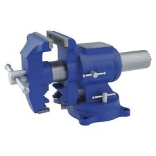 Blue 5-in Rotating Pipe Jaws Swivel Base Bench Vise with Fused Steel Handle