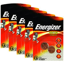 10 x Energizer Lithium CR2016 batteries 3V Coin cell DL2016 EXP:2023 Pack of 2