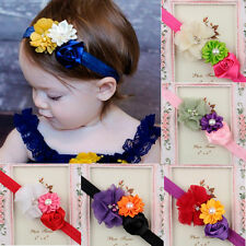 8pcs Kid Girl Baby Toddler Infant Flower Soft Headband Hair Bow Band Accessories
