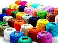 New 40 Anchor Crochet Cotton Thread Balls Sewing Embroidery Assorted Colours