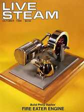 Live Steam V24 N10 October 1990 Build Philip Duclos' Fire Eater Engine