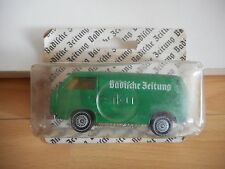 Siku VW Volkswagen Transporter T3 Badische Zeitung in Green on Blister