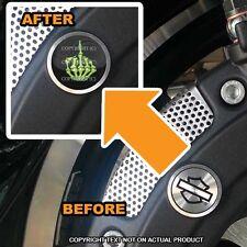 Brembo Front Brake Caliper Insert Set For Harley - SKULL FINGER FU GRN - 083