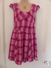 Gorgeous little pink check dress from Firetrap size M (UK 12)