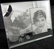 "BUTTERFLY MIRROR 2"" X 3"" PHOTO FRAME - Home Decor - Gift - Special Occasion -NEW"