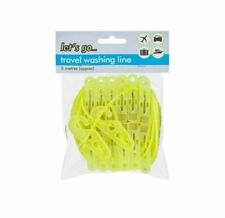 """WASHING CLOTHES LINE CAMPING TRAVEL PEGS INDOOR / OUTDOOR  HOLIDAY LAUNDRY"""