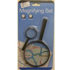 2 x Magnifying Glass Handheld Hand Held Lens Magnifier in Pack New.