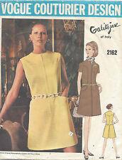"""1969 VINTAGE VOGUE cucito Modello B34 Vestito (1102) con """"IRENE GALITZINE"""""""