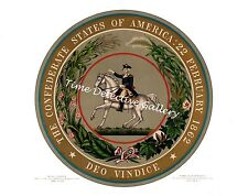 Great Seal of the Confederate States of America - 1862 - Historic Art Print