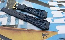 20mm BLUE Golay 'PLAYA' dive band. Nice Tropic alternative watch strap. Swiss.
