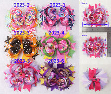 "Top-selling 6pc 5""Boutique Christmas gift Baby Girl kid Hair bow clip 2023-1-6-Y"