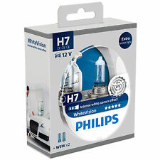 Philips White Vision 40% Whiter Light H7 Headlight Bulb (Twin Pack of Bulbs)