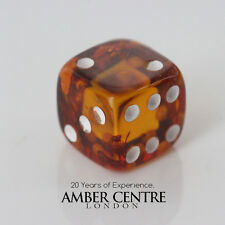 Beautiful Dice Carving in 100% Genuine Cognac Baltic Amber CAR0098 RRP£24.95!!