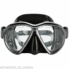 Adventure At Nature Stinger Black Scuba Diving Snorkelling & Spearfishing Mask