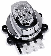 Ignition Lock Chrome Skull electronic for Harley Davidson Safe from 94