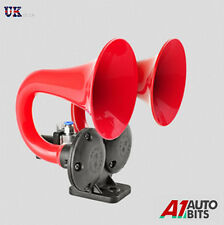 12V 125dB Air Blast Loud Horn Electric Valve For Car Truck RV Train Boat Camper
