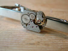 *** NEW VINTAGE RETRO STEAMPUNK WATCH MOVEMENT TIE CLIP***
