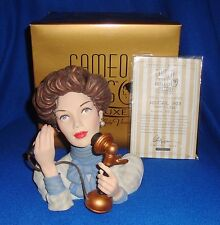 Abigail 1903 Lady Head Vase Cameo Girls MIB