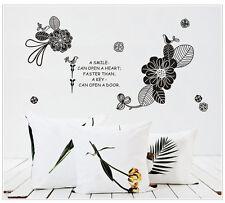 Wandtattoo wandaufkleber wandsticker Blumen WandSpruch wall text blume f010