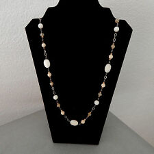 "Silpada Necklace, Oxidized Sterling Silver, Mother-of-Pearl, 36"" Long, N1504"
