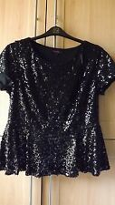 SIMPLY BE  NEW  FULLY LINED BLACK SEQUIN  TOP  SIZE 18