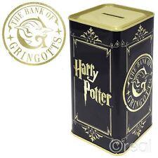 New Harry Potter The Bank Of Gringotts Tall Money Tin Piggy Bank Box Official