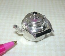 Miniature Old-Fashioned Metal Tea Pot, Lid Removes, Swing Handle: DOLLHOUSE 1/12