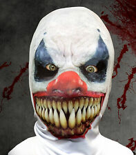 DEMON CLOWN 3D EFFECT FACE SKIN LYCRA FABRIC GRIM REAPER FANCY DRESS HALLOWEEN