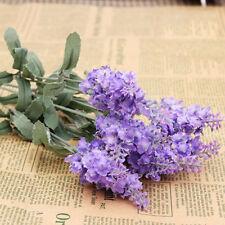 Hot 1Pcs Bouquet Man-made Lavender Silk Flower Home Wedding Garden Floral Decor