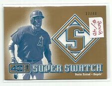 2002 UD Forty Man Super Swatch Darin Erstad Game Used Jersey #17/40 Card #S-DE