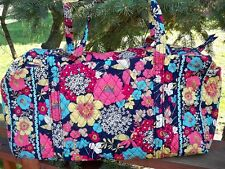 VERA BRADLEY Large Duffel Travel Vacation College Bag Happy Snails