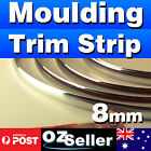 3M Silver 8mm Car Chrome DIY Moulding Trim Strip For Grille Window Door Bumper